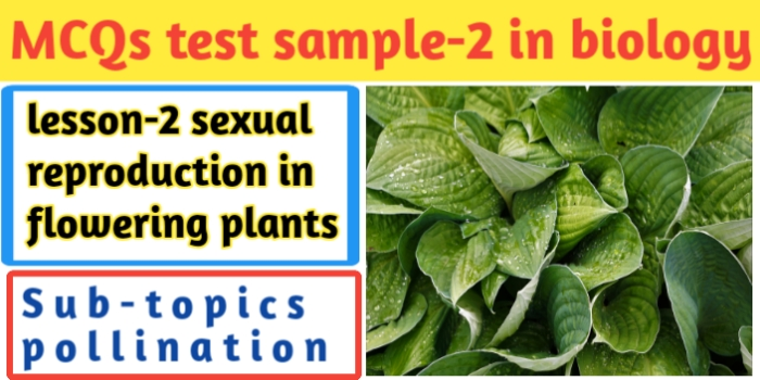 MCQs test sample-2 in biology for class 12th-CBSE-JAC Exams