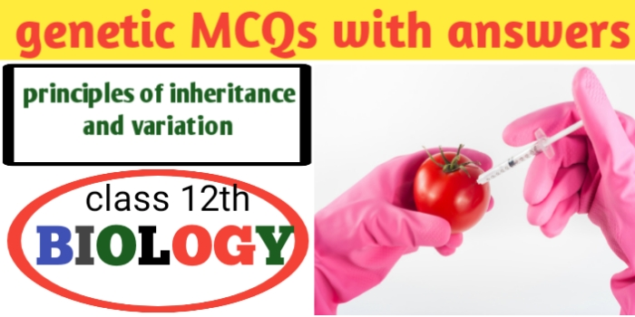 Genetics MCQs with answers for neet-CBSE-JAC exams