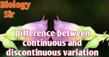 Difference between continuous and discontinuous variation